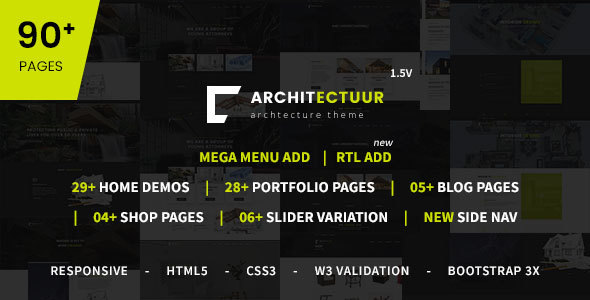 Architectuur - Interior Design, Decor, Architecture Business HTML Template