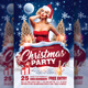 Christmas Party Flyer Template v1 - GraphicRiver Item for Sale