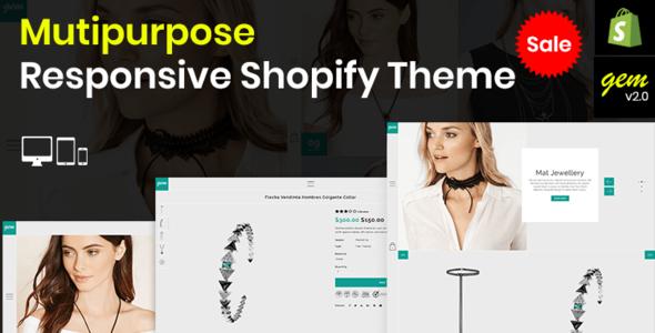 Gem – Multipurpose Responsive Shopify Theme