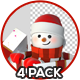 3D Snowman And Gift Box - GraphicRiver Item for Sale