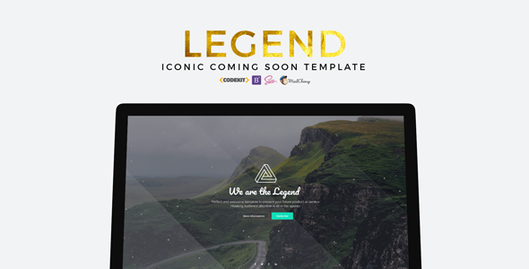 LEGEND – Iconic Coming Soon Template
