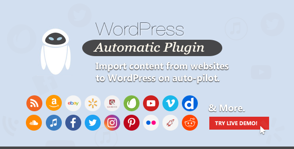 WordPress Automatic PluginPrice : $21