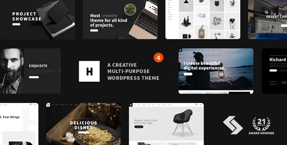 Heli - Minimal Creative Black and White WordPress Theme