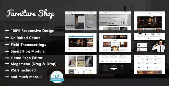 Furniture Shop - Interior Apartment Design Responsive PrestaShop 1.7 Theme