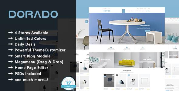 Dorado - Minimalist Furniture and Decor Responsive PrestaShop 1.7 Theme