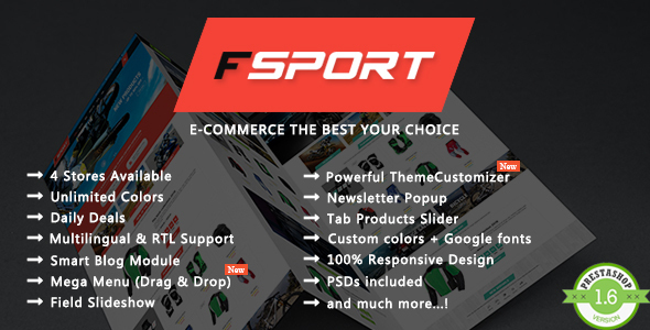 FSport - Motor & Bike Equipments PrestaShop Theme