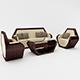 Hexagon Sofa Set - 3DOcean Item for Sale