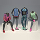 Female mannequin Nike pack 3 3D model - 3DOcean Item for Sale