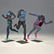 Female mannequin Nike pack 4 3D model - 3DOcean Item for Sale