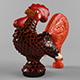 Glass figurine rooster - 3DOcean Item for Sale