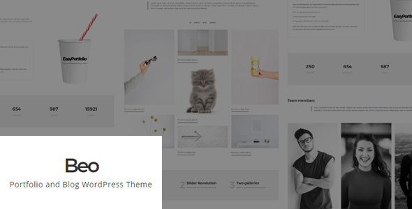 Beo - Portfolio and Blog WordPress Theme