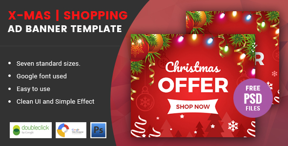 X-mas | Shopping HTML 5 Animated Google Banner