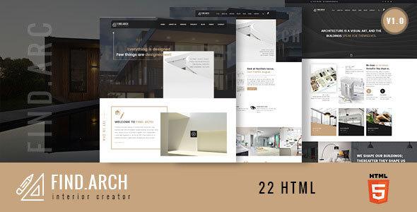 Find.ARC - Interior Design, Architecture - HTML5 Template