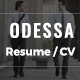 Odessa - Resume HTML Template - ThemeForest Item for Sale