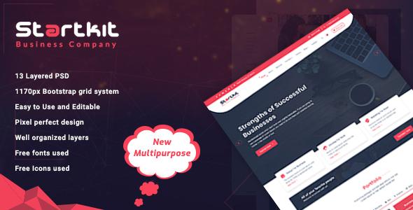 StartKit - Business Multipurpose PSD template