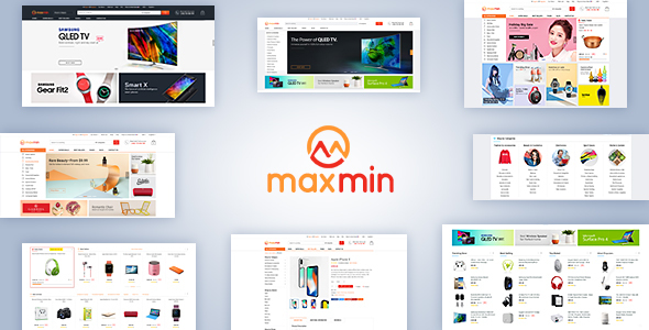 Maxmin - Supermarket eCommerce PSD Template
