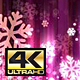 Abstract Dark Pink Christmas Snowflakes 4K - VideoHive Item for Sale