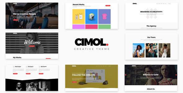 Cimol - Responsive One & Multi Page Portfolio Theme