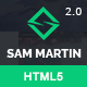 Sam Martin - Personal vCard Resume HTML Template - ThemeForest Item for Sale