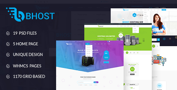 Bhost – Hosting PSD Template, Gobase64
