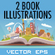 2 Vector Travel Book Illustrations - GraphicRiver Item for Sale