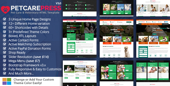 Pet Care Press HTML
