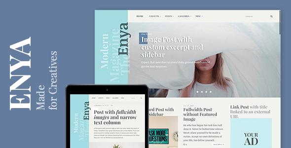 Enya - WordPress Theme for Creative Bloggers
