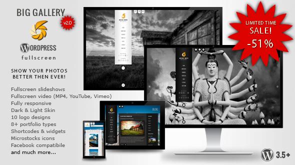 BIG Gallery WP - Fullscreen Photography/Portfolio