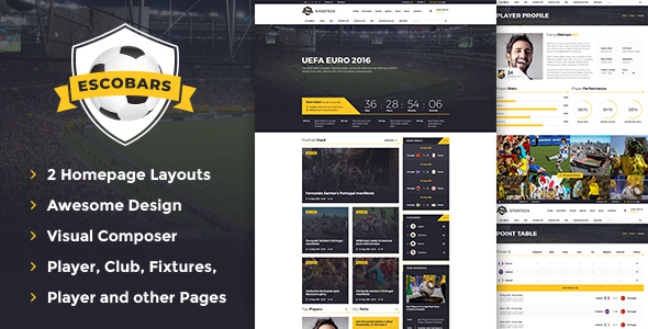 Escobars | Sport Team Clubs WordPress Theme