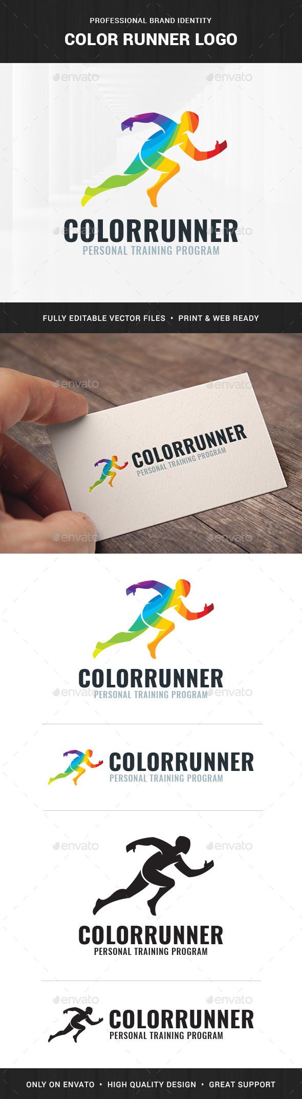 Color Runner Logo Template