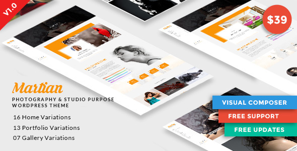 Martian   Photography & Studio Purpose WordPress Theme