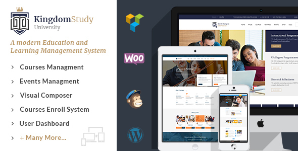 Kingdom Study - WP Learning Management System WordPress Theme