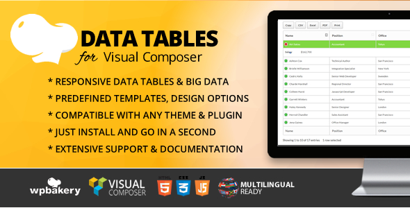 Datatables Plugins, Code & Scripts from CodeCanyon
