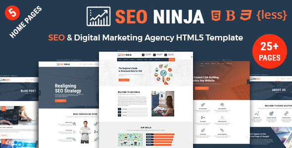 Seo Services Templates from ThemeForest