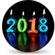 New Year Countdown Candles 2018 - VideoHive Item for Sale