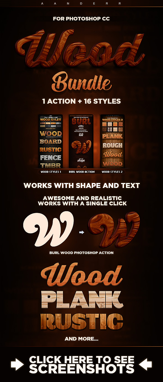 Wood Action & Styles Bundle