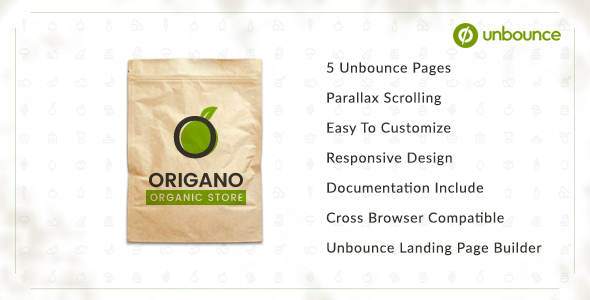 Origano - Organic Store Unbounce Template