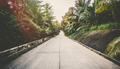 Road on tropical island - vintage retro style - PhotoDune Item for Sale