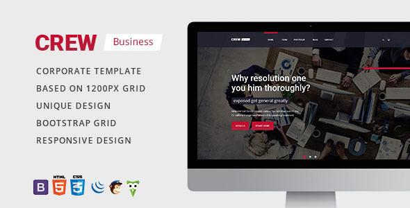 Crew — Business, Corporate Portfolio & Blog HTML Template