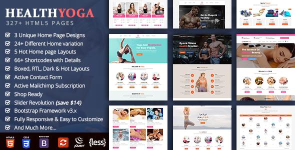 HealthYoga - Yoga Gym HTML