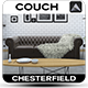 Chesterfield Sofa - 3DOcean Item for Sale