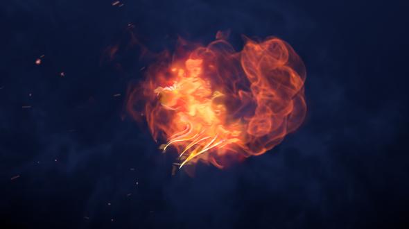 Flame Metallic Fire Logo Cinematic