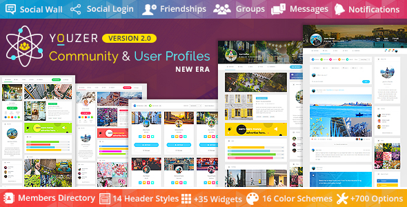 Youzer - Buddypress Community & Wordpress User Profile Plugin