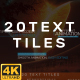 Text Tiles - VideoHive Item for Sale