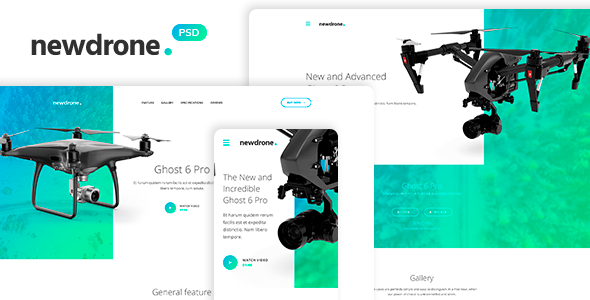 Newdrone - Sale Page, Landing or Concepts PSD Templates