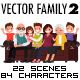 Vector Family 2 Illustration Pack - GraphicRiver Item for Sale