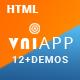 VniApp - Showcase Mobile App HTML Template - ThemeForest Item for Sale