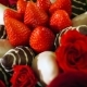 Bouquet with Rose and Strawberry in Chocolate Frosting - VideoHive Item for Sale