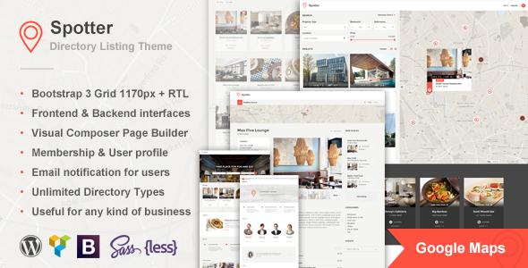 Spotter – Universal Directory Listing WordPress Theme