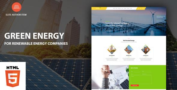 Solar Energy HTML Website Templates from ThemeForest